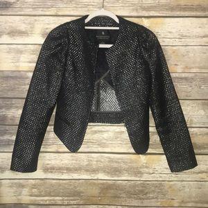 MAISON SCOTCH black cropped sparkle jacket S